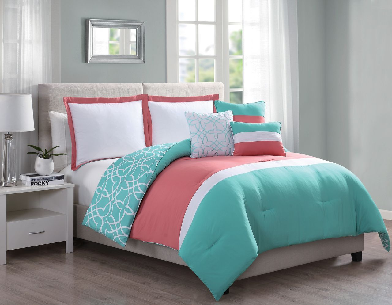 Coral And Mint Full Size Bedding Sets Teal And Coral Bedding