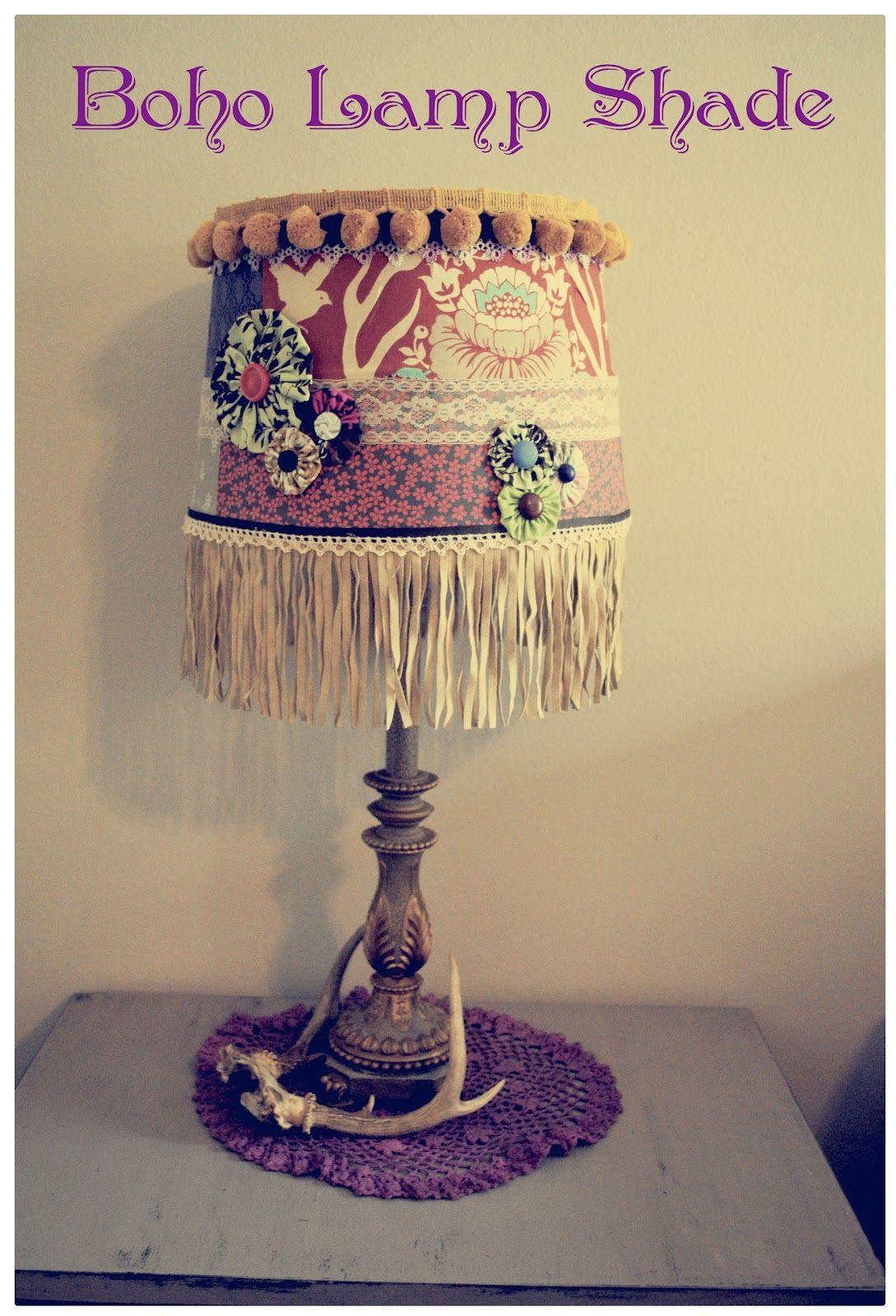 DIY Boho Lamp Shade | making my own home... | Pinterest | Lamp ...