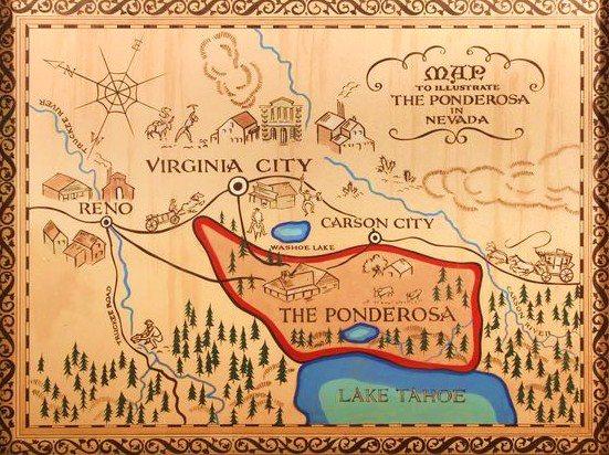 bonanza ranch nevada map, nevada ponderosa ranch map, idaho craters of the moon map, on map of the ponderosa nevada