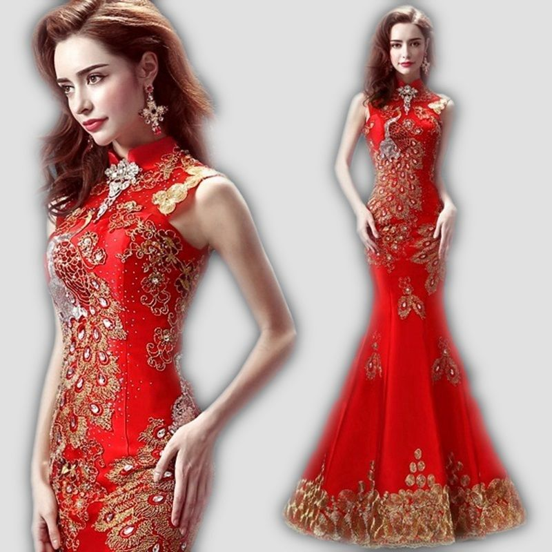 Robe sirene rouge aliexpress