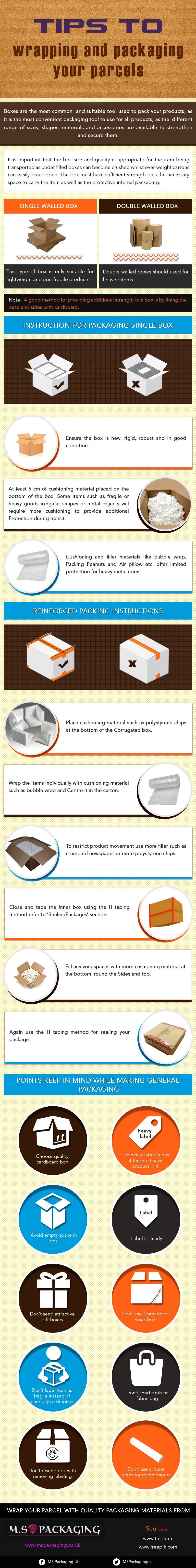 Tips to Wrapping and Packaging Your Parcels Safely and Securely
