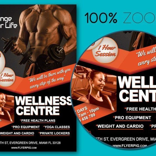 Gym Fitness Flyer Template Gym fitness and Flyer template - fitness flyer template