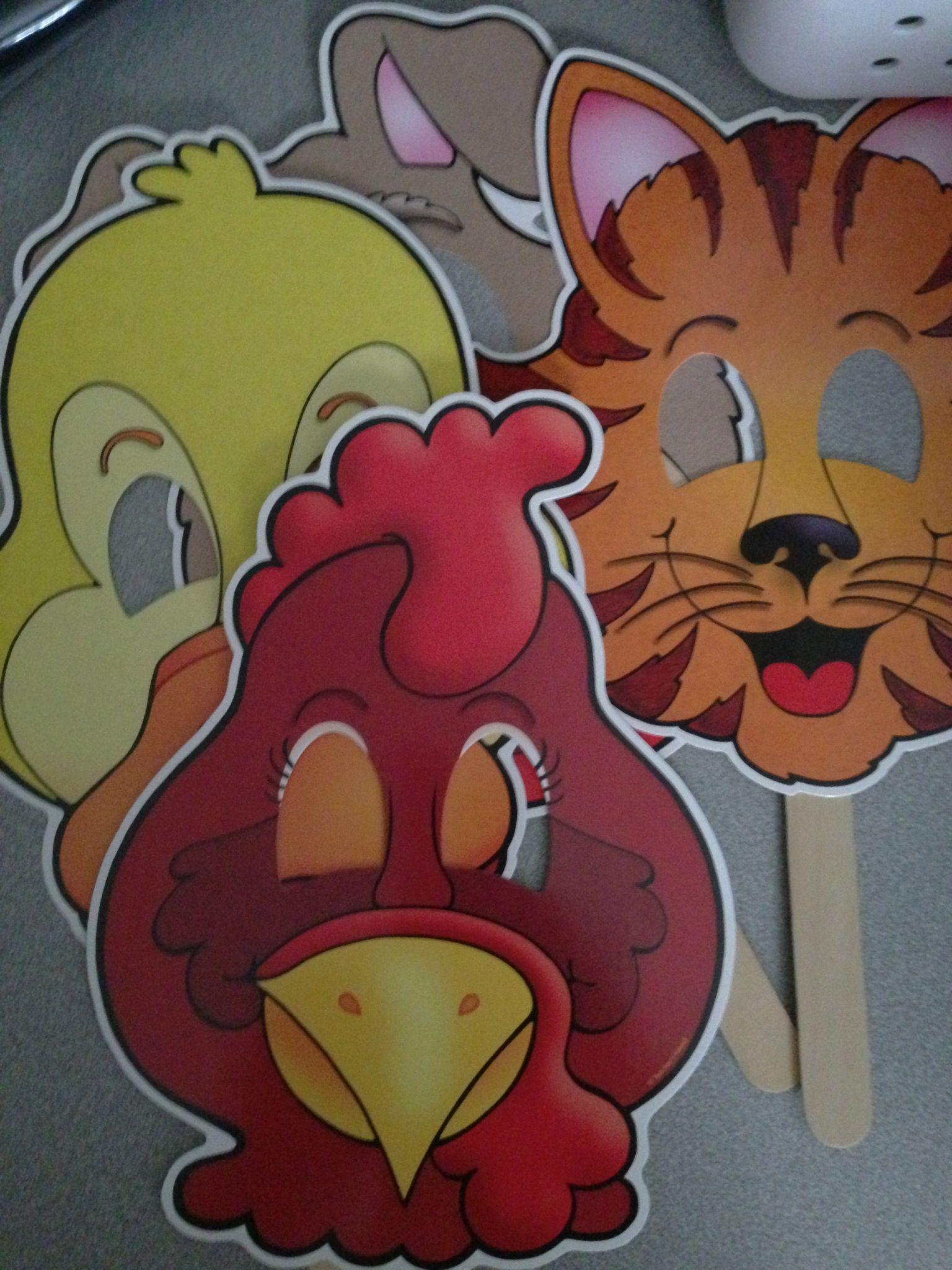 Little Red Hen Story Masks