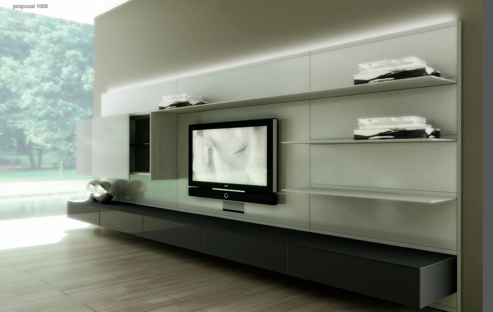 Glazen Design Tv Meubel.Tv Meubel Op Maat Glas En Aluminum Rimadesio Italia Tv