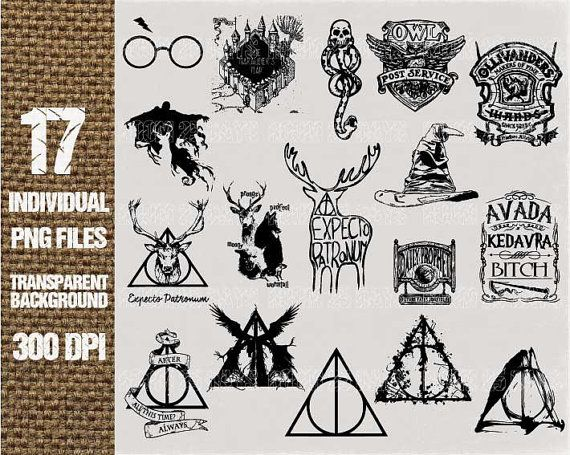 17 Harry potter element Clipart Digital Graphic by Room25Days ...