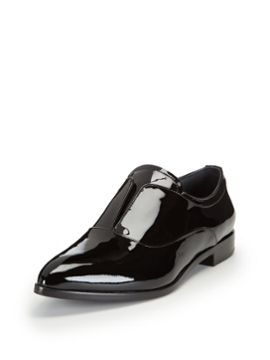 Patent Leather Slit Pointed-Toe Oxford from The New Classics: Luxury Shoes & Handbags on Gilt