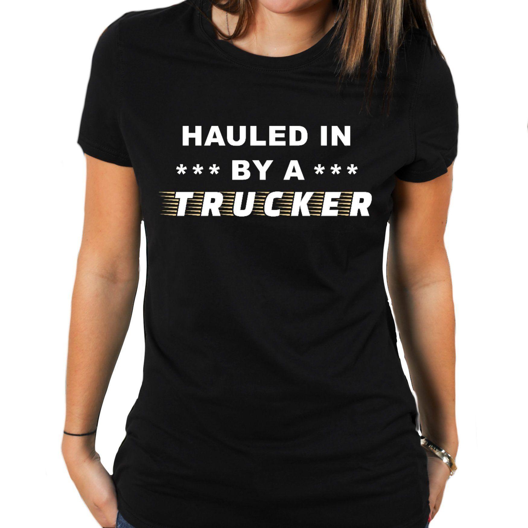 2844077ab2b Funny Trucker Girl Tshirt
