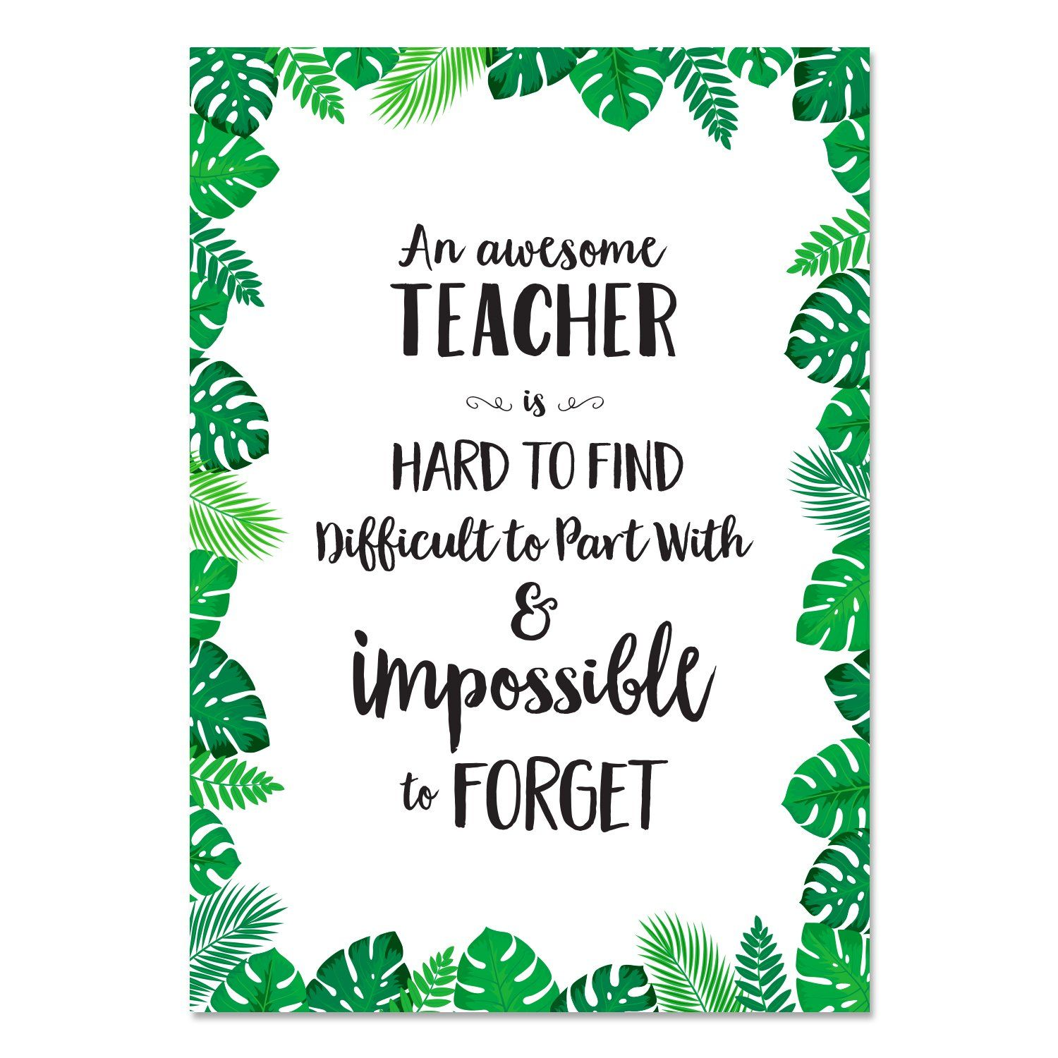 Palm Paradise Awesome Teacher Inspire U Poster Free