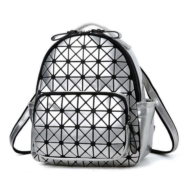 BaoBao Diamond Women Backpack Fashion Personality Glasses Female Bag Laser  BAO BAO Geometric Shoulder Bag Students School Bags cf0daffa1d303