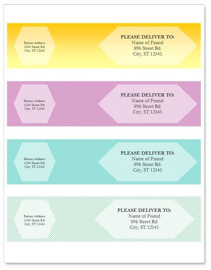 wrap around address labels Printables Pinterest Wraps - free templates for newsletters in microsoft word