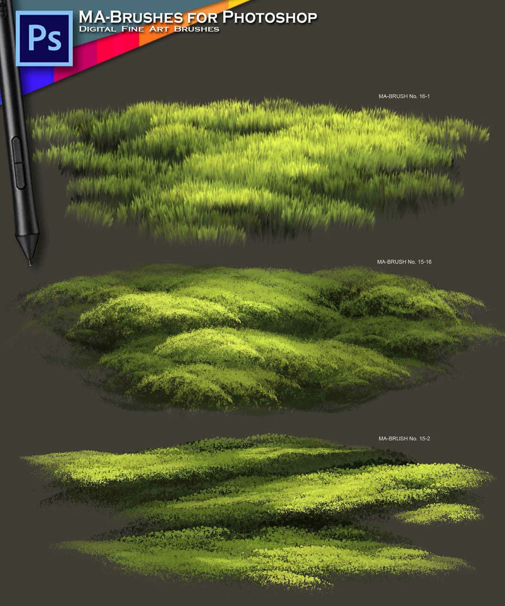Concept ART Brushes - MaxRealistic MA-BRUSHES with Oil Texture, Michael Adamidis Art Channel