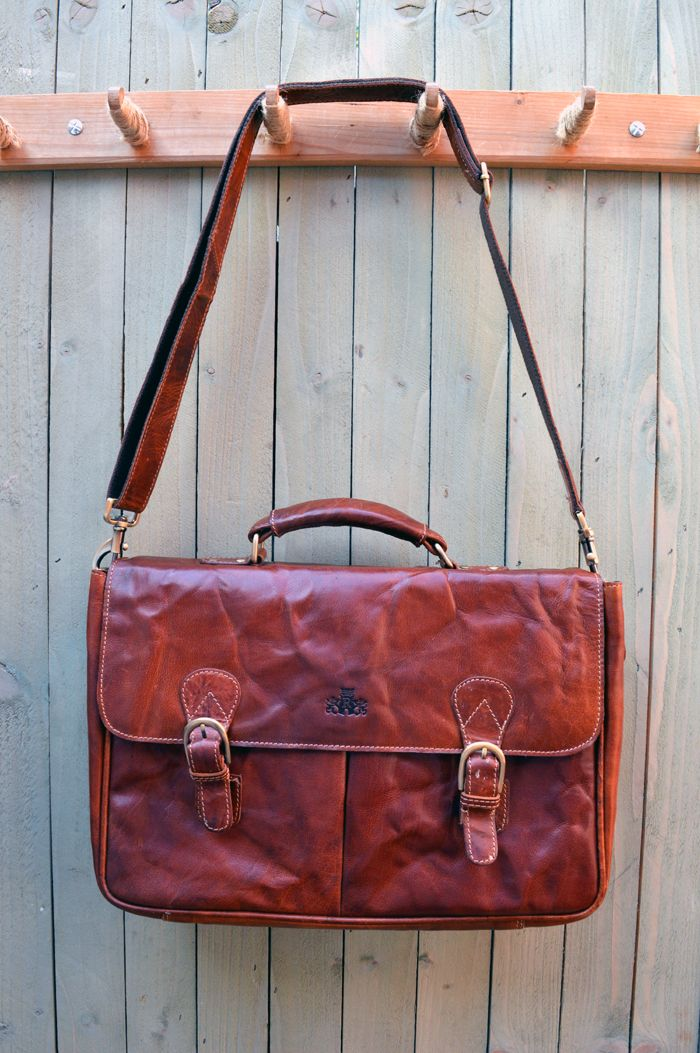 Handmade British Scottish Leather Satchels Available At Great Life Online Bronco Briefcase Cognac