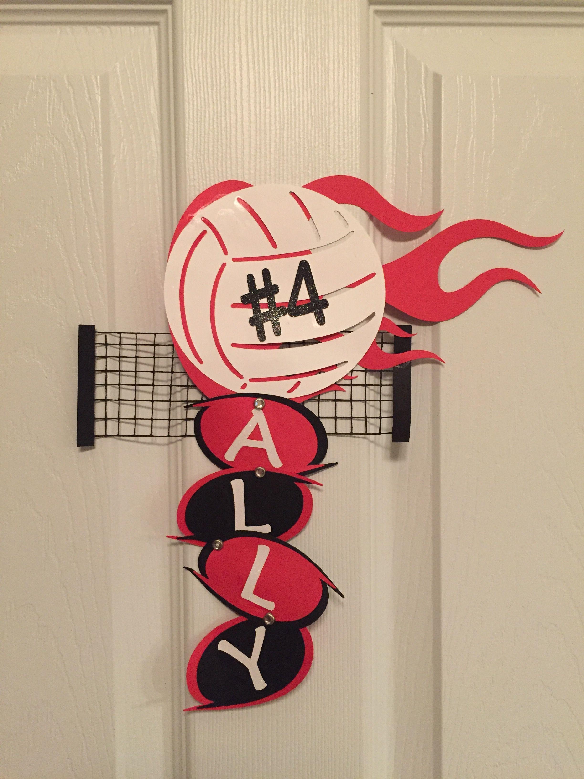 Volleyball Door Signs Volleyball Locker Decorations Volleyball Crafts Volleyball Locker