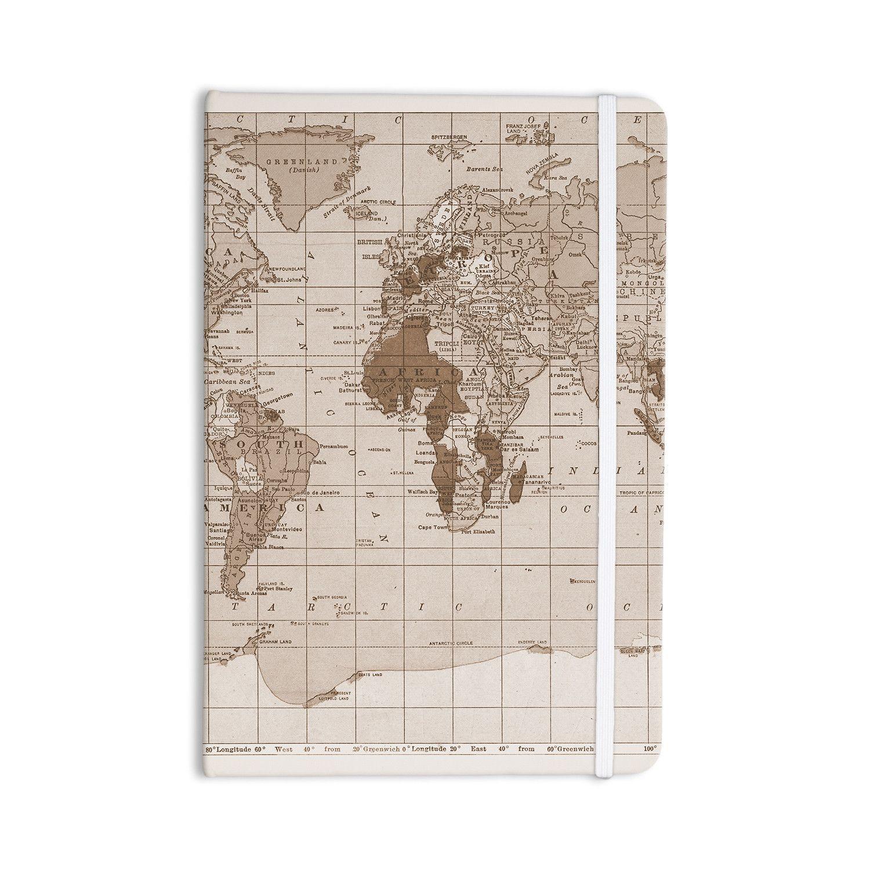 "Catherine Holcombe ""Emerald World"" Vintage Map Everything Notebook"