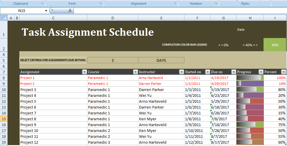 Professional Conference Room Schedule Template Excel  Project