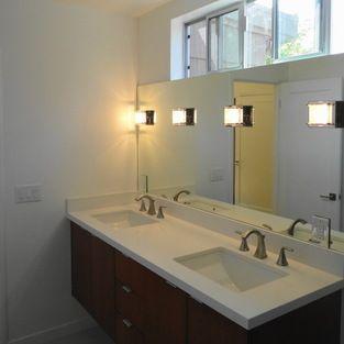 Clerestory Windows Above Bathroom Vanity Modern Bathroom