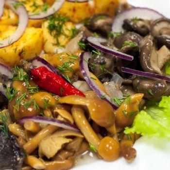 салат грибное лукошко рецепт с фото с опятами