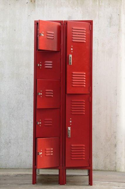 LYON Locker set 5dr + 2dr vintage furniture
