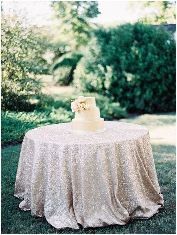 Gorgeous Champagne Sequin Table Cloth. Makes Stunning Wedding/event/holiday  Decor! Need