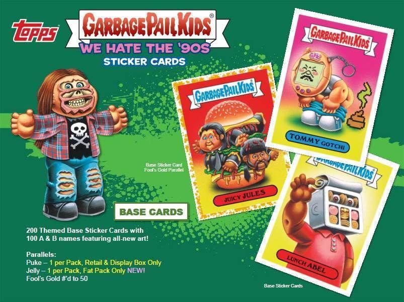 2019 TOPPS GARBAGE PAIL KIDS WE HATE THE 90s BLASTER BOX 2 BOX LOT