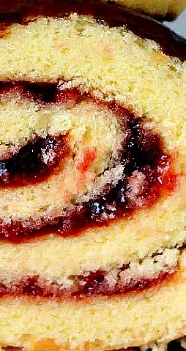 Raspberry Roll Cake - Winter Joy - 5 Star Cookies