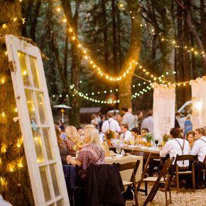 Outdoor Reception Setup Rustic Wedding Decorations Accents
