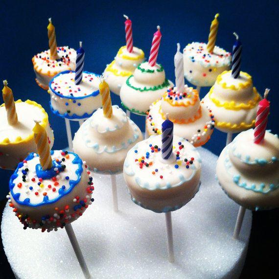 Birthday Candle Cake - Cake Pop on Etsy, $30.00