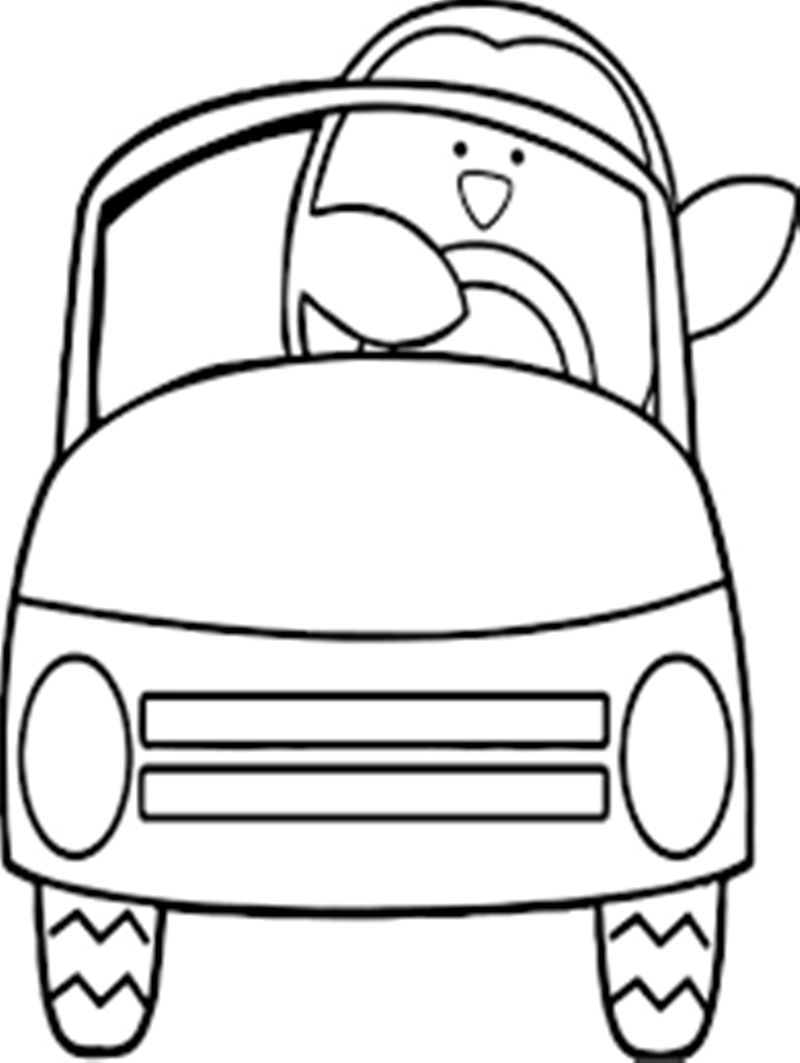 Coloring Pages Black And White Penguins Clip Art