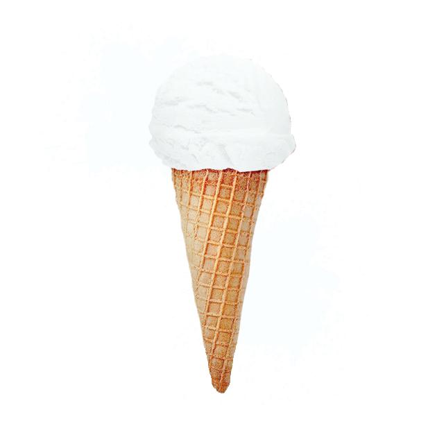 3d Realistic Vanilla Ice Cream Cone With Splash Vanilla Ice Cream Cone Ice Cream Cone