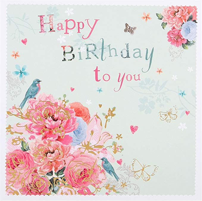 Hallmark 25454011 16 0 Cm X 0 2 Cm X 16 0 Cm Flowers And Butterflies Birthday Card Amazon Co Uk Hallmark Birthday Card Butterfly Birthday Cards Birthday Cards