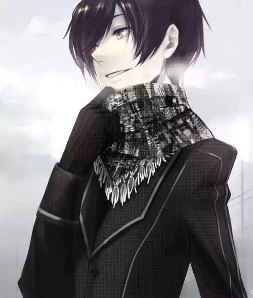 Imagen De Anime Scarf And Boy Anime Black Hair Black Hair Boy Anime Guys