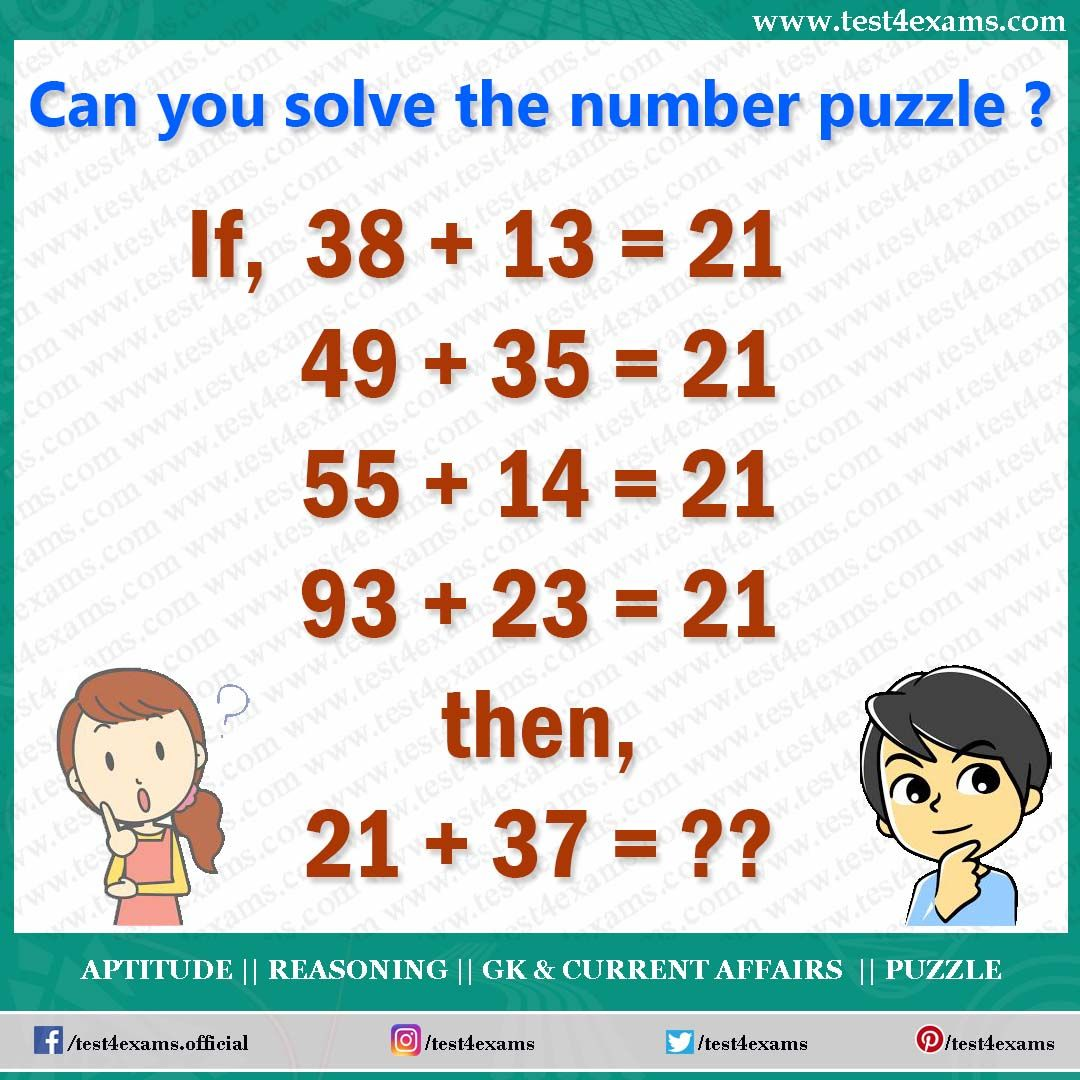 Can You Solve This Number Puzzle 38 13 21 49 35 21 55 14 21 93 23 21 21 37 Get More Brain Math Riddles Brain Teasers Brain Teasers Riddles Math Riddles