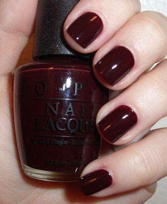 Opi Hollywood And Wine Maroon Nails Wine Nails Maroon Nail Polish