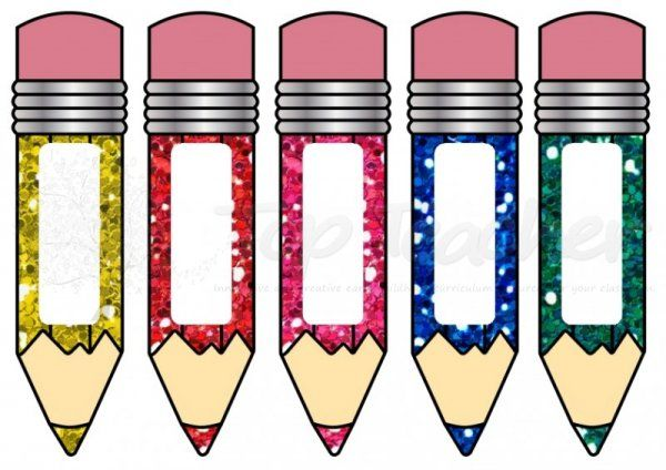 Different Sized Pencil Name Tagecards Small Sized Per Page - Pencil name tag template