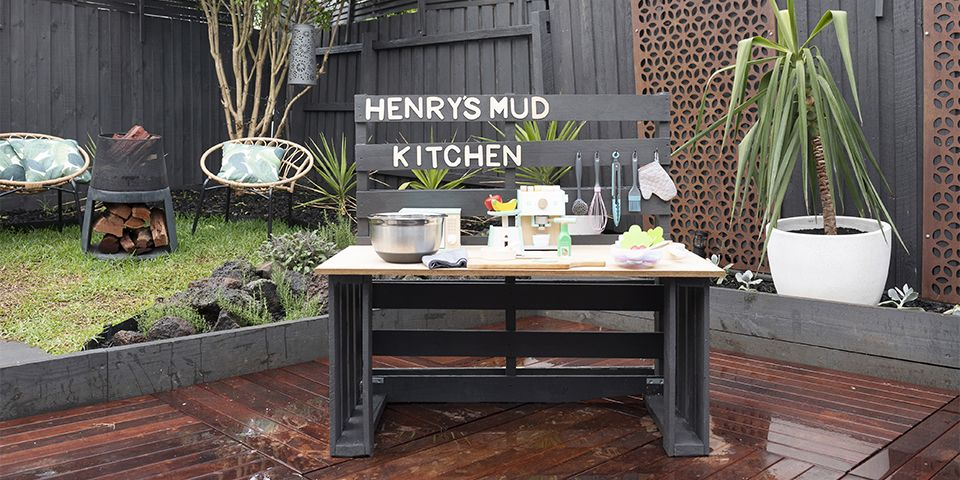 How To Build A Mud Kitchen For Kids Bunnings Warehouse Nz In 2020 Mud Kitchen For Kids Mud Kitchen Kids Kitchen