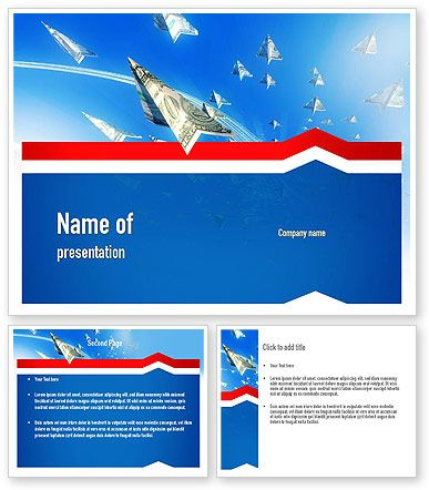 Force Aircraft From Dollars Powerpoint Template Http Www