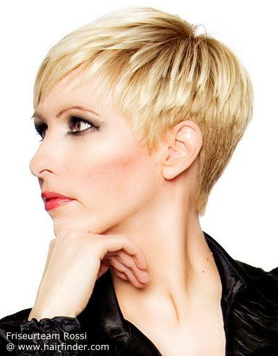 Side View Of A Layered Pixie Cut Short Haircuts Pinterest