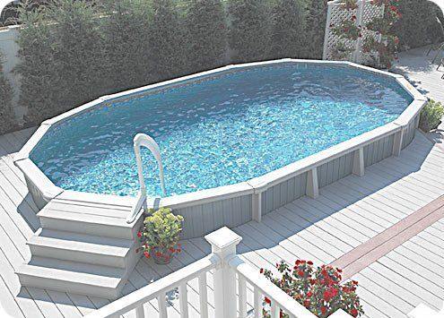 Gillette Interiors Contemporary Above Ground Pools With White Wooden Decks Best Above Ground Pool Above Ground Pool Landscaping Pool Landscape Design