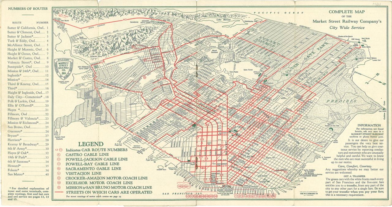 Historical Map: San Francisco Market Street Railway Company ... on trans-siberian railroad map, chicago cable cars map, zermatt cable car map, russian hill cable car map, california cable car map, sf map, new orleans cable car map, lombard street map, alcatraz island map, muni cable car map, cable car stop map, lisbon cable car map, pier 39 map, los angeles map, emirates london cable car map, cable car route map, powell street cable car map,