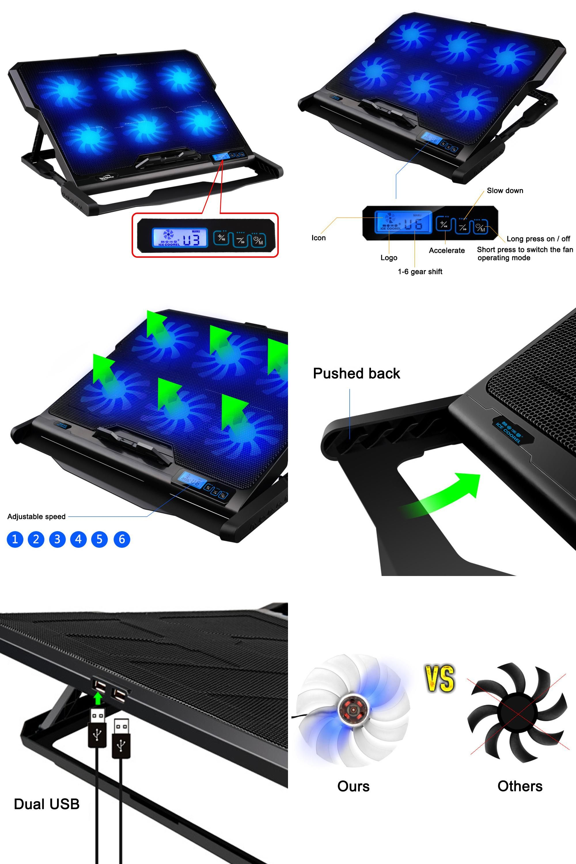 Visit To Buy Laptop Cooler 2 Usb Ports And Six Cooling Fan Laptop