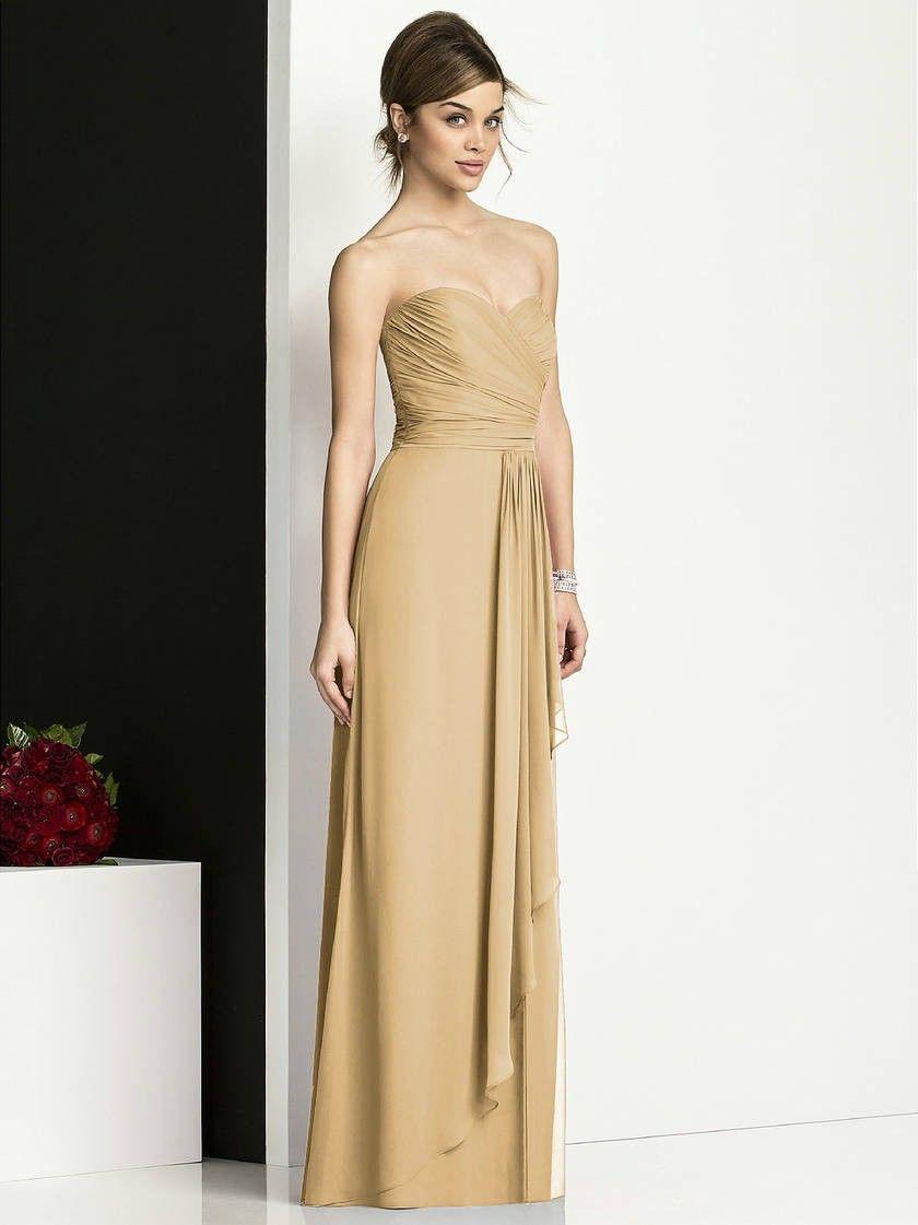 Gold full length strapless chiffon bridesmaid dresses gold gold full length strapless chiffon bridesmaid dresses ombrellifo Images