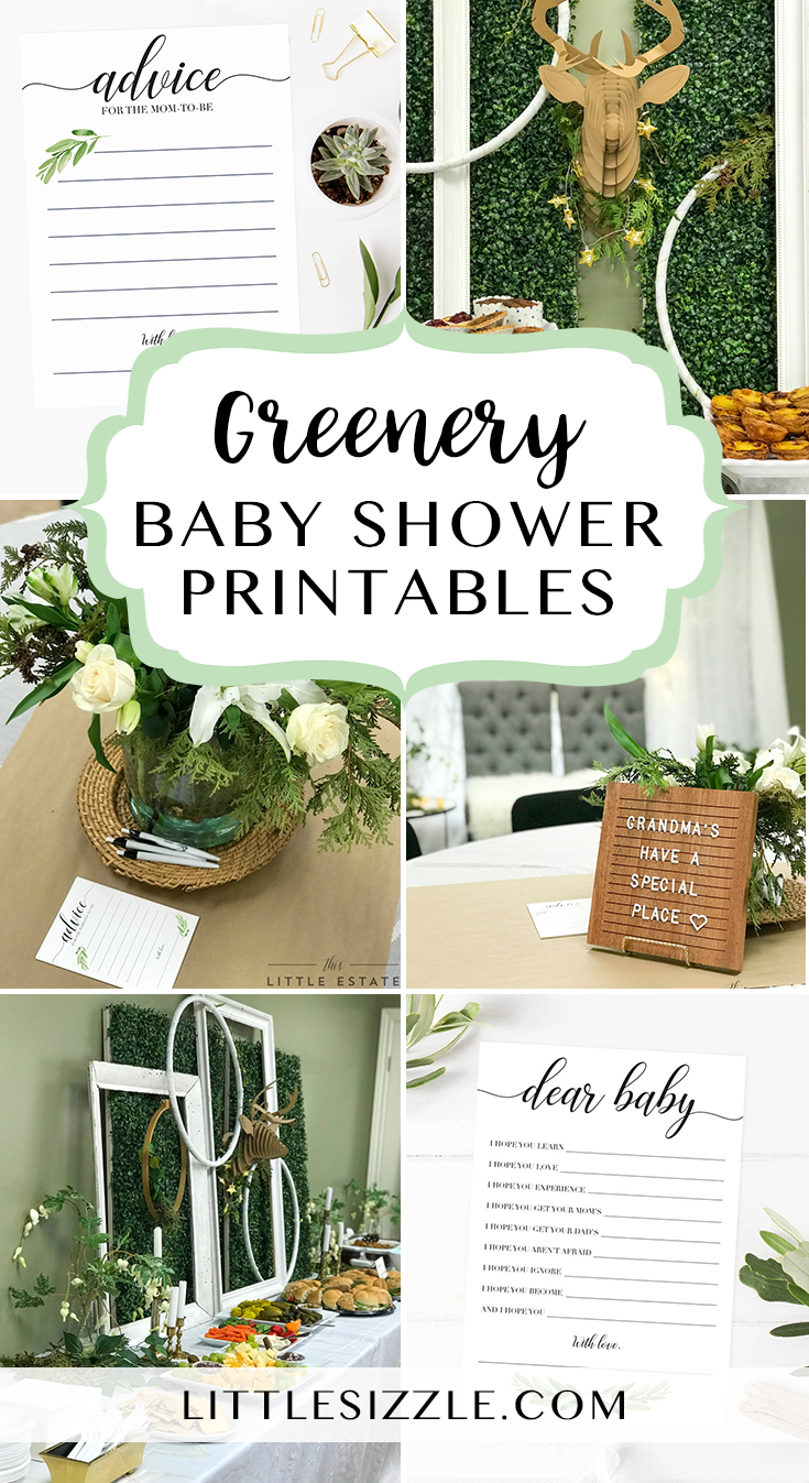 Greenery themed baby shower ideas by LittleSizzle ...