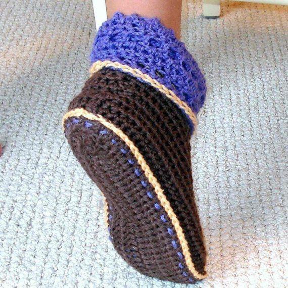 Cuffed Booties Crochet Pattern Adults And Kids Socken Häkeln
