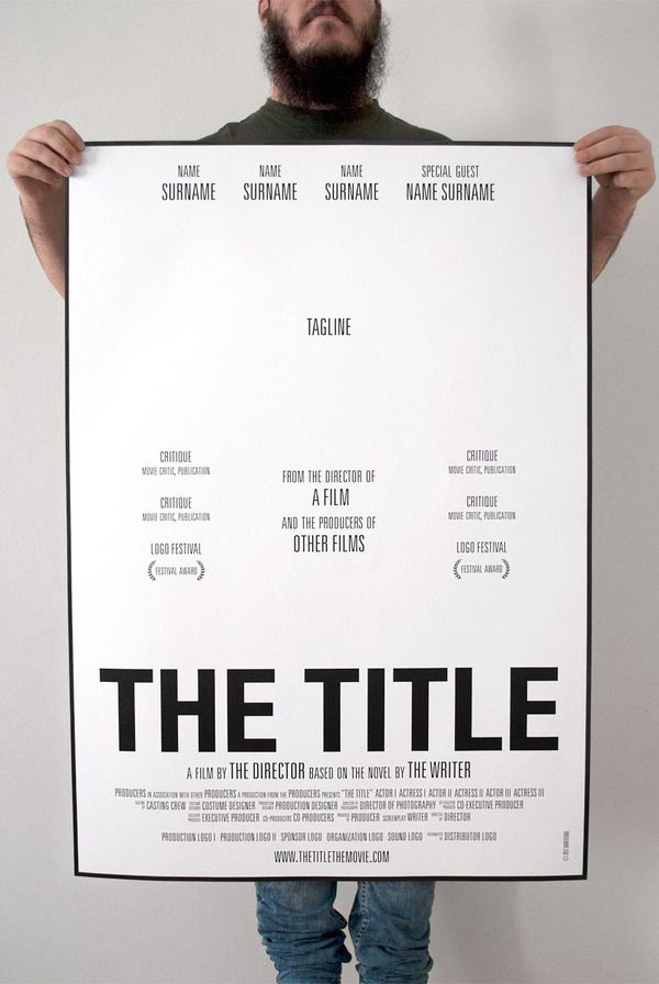 I Love How This Poster Uses Clear Hierarchy And Typography To Create Visual Interest Its Look At The Basic Movie Poster Template Poster Template Book Report