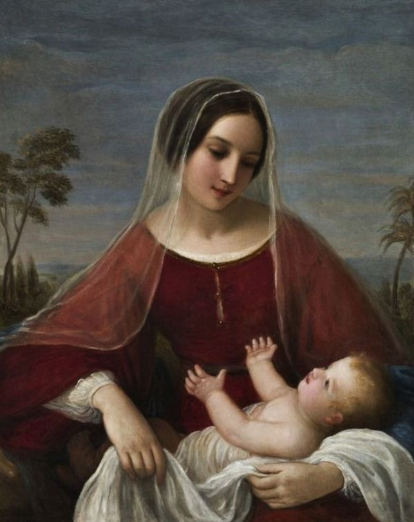 Madonna by Giovanni Schiavoni, 1842.
