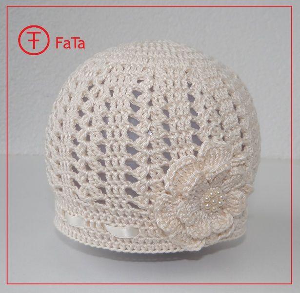 Babymütze Taufmütze Häkelmütze 100 Baumwolle Von Fata Shop Auf