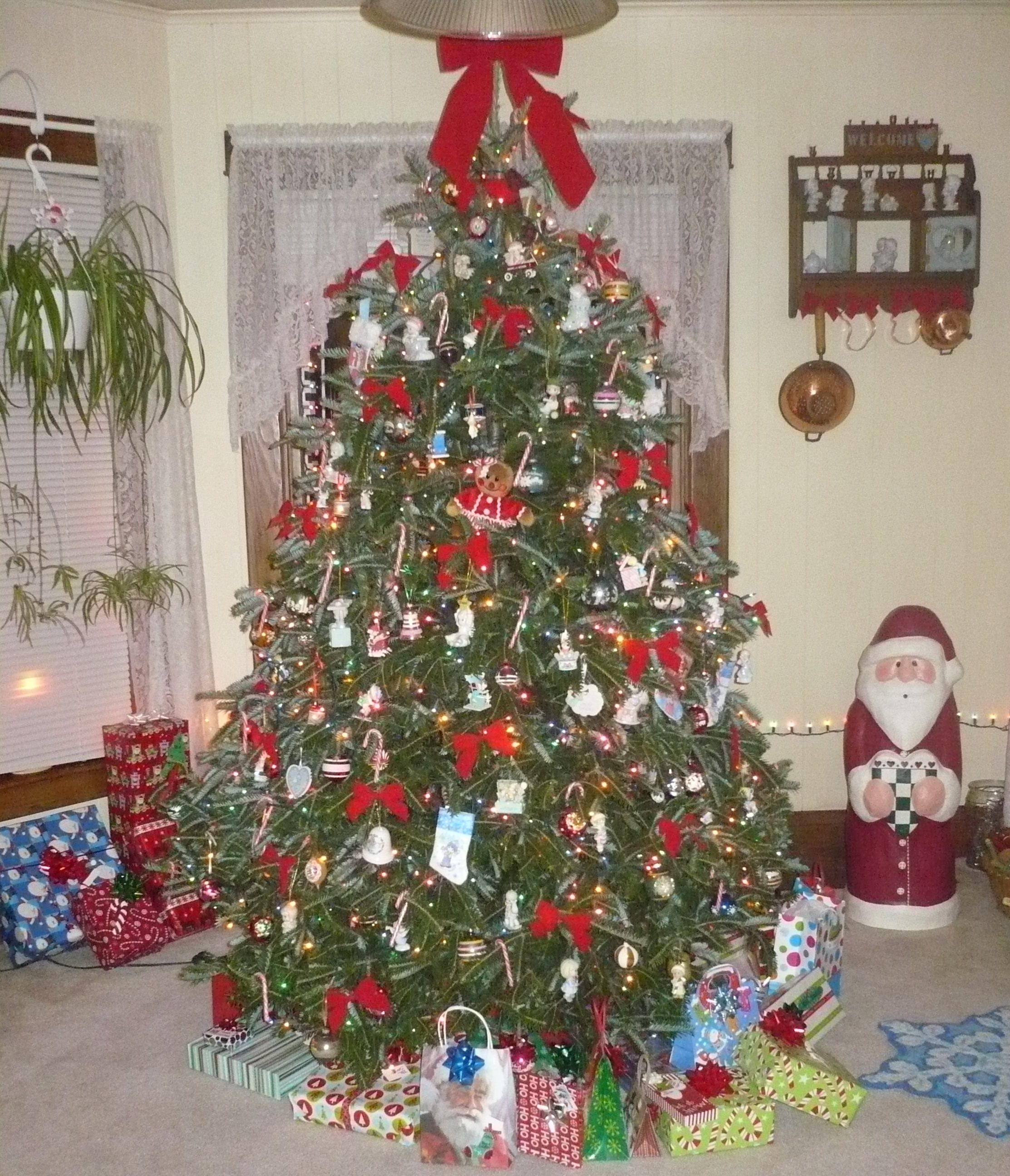 My Christmas Tree Decorated With My Antique Ornaments & My