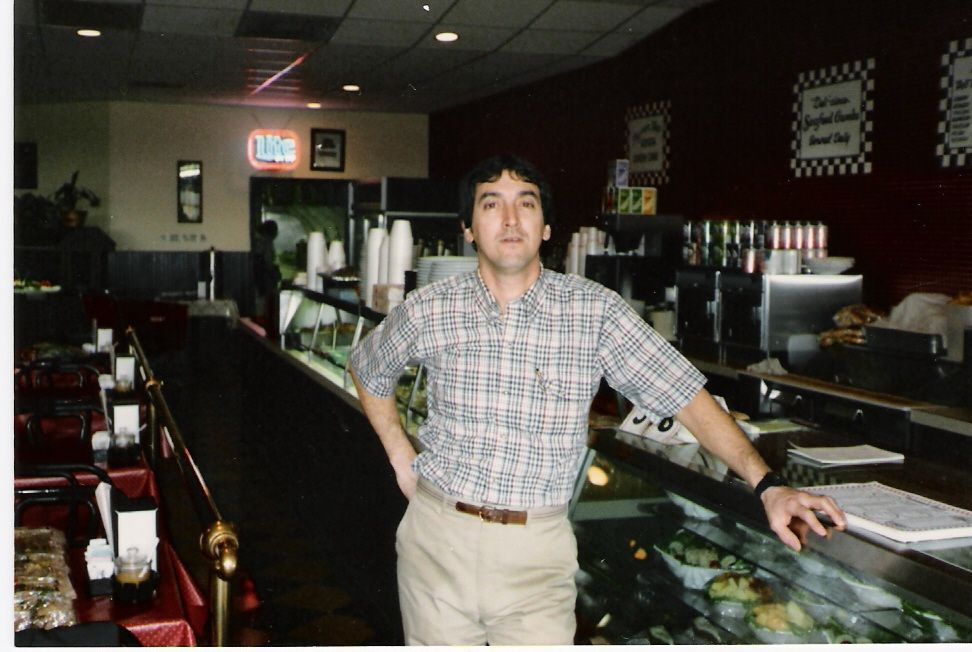 Pete Verde, one of our four original founders, at our deli in the 1980s.