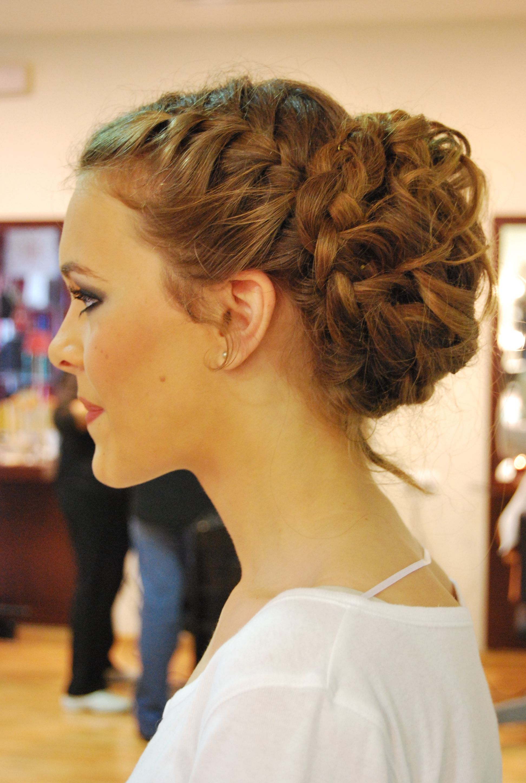 Recogido para boda con trenza lateral de peluquer a - Recogido para boda ...