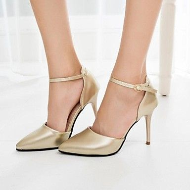shimandi ® sandálias cinta salto agulha leatherette d'Orsay das mulheres tornozelo sapatos (mais cores) – EUR € 10.39